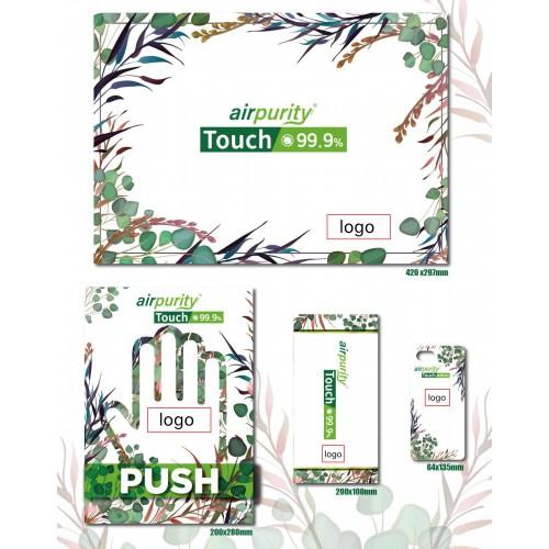 airpurity-touch 99.9%個性化防菌貼紙套裝